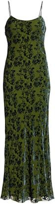 Marina Moscone Burnout Velvet Slip Dress