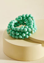 ModCloth Burst Your Bauble Bracelet in Aqua