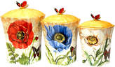 Certified International Poppy Garden 3-pc. Canister