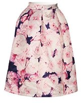 Cfanny Women's Sakura Versatile Stretchy Pleated Flare Skater Skirt