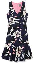 Vince Camuto Floral-print Ruffle-hem Dress