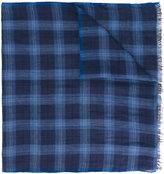 Corneliani checked scarf - men - Silk/Linen/Flax - One Size