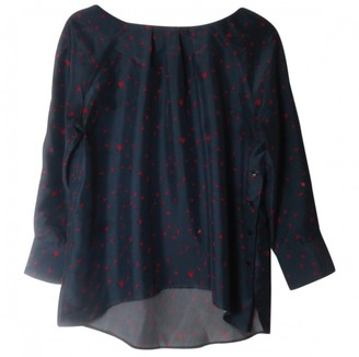 Band Of Outsiders Blue Silk Top for Women