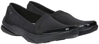 Bzees Lollipop (Black Gradient Bars Knit) Women's Shoes