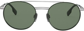Burberry Eyewear Round Frame Aviator Sunglasses