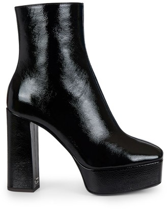 Giuseppe Zanotti Morgana Square-Toe Patent Leather Platform Boots