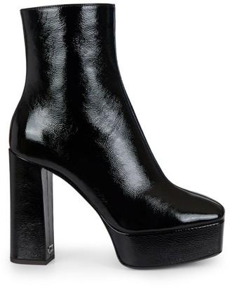 Giuseppe Zanotti Square-Toe Patent Leather Platform Boots