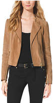 Michael Kors Leather Quilted Moto Jacket