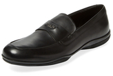 Prada Linea Rossa Square-Toe Leather Loafer