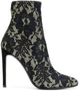Giuseppe Zanotti Design Celeste Dentelle lace booties