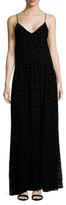 Jill Stuart Taw Devore Velvet Heart Maxi Slip Dress
