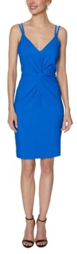 Laundry by Shelli Segal Strappy Twist-Front Sheath Dress