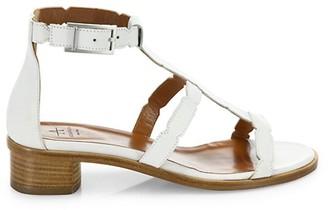 Aquatalia Rise Scalloped Leather Gladiator Sandals