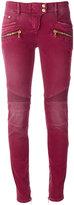 Balmain stretch biker jeans - women - Cotton/Spandex/Elastane - 34