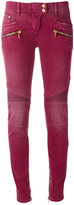 Balmain stretch biker jeans - women - Cotton/Spandex/Elastane - 38