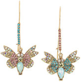 Betsey Johnson Buzz Off Butterfly Hook Earrings