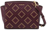 MICHAEL Michael Kors Selma Medium Diamond-Grommet Messenger Bag, Plum