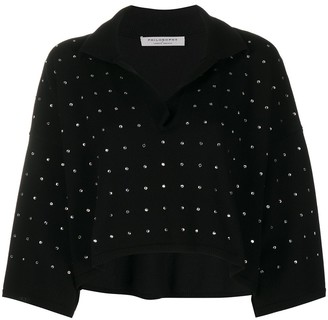 Philosophy di Lorenzo Serafini Embellished Knitted Top