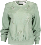 Alfred Dunner Sage Embroidered Long-Sleeve Top - Petite