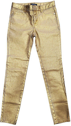 Chanel Gold Cotton - elasthane Jeans
