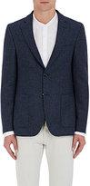 Officine Generale Men's Plaid Wool Tweed Two-Button Sportcoat-GREY