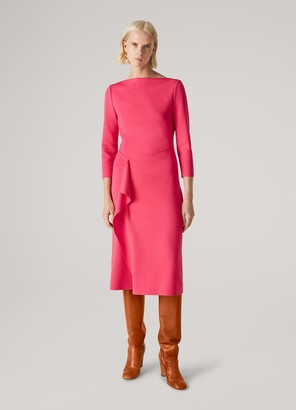 St. John Milano Knit Wrap Detail Dress