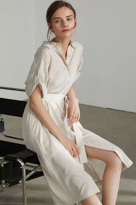 J.ING Adelaide White Midi Shirt Dress