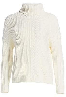 Splendid Women's Lakewood Cable-Knit Turtleneck Sweater