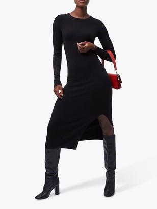 French Connection Babysoft Crew Neck Dress, Black