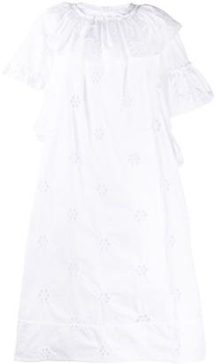 Simone Rocha Ruffle-Detail Broderie Anglaise Midi Dress