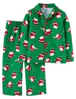 Just One You® made by Carter Toddler Boys' Long-Sleeve Fleece Coat Pajama Set Green Santa - Just One YouMade by Carter's®