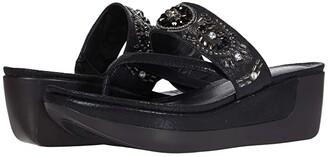 Kenneth Cole Reaction Pepea Cross Glam (Black Metallic) Women's Shoes