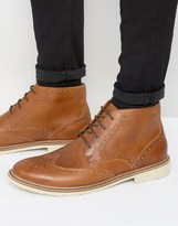 Tommy Hilfiger Metro Leather Lace Up Brogue Boots
