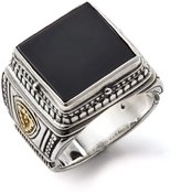 Konstantino Men's Size 10 Silver and Brass Black Onyx Ring