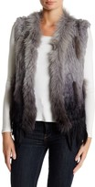 Bagatelle Ombre Genuine Rabbit Fur & Genuine Coyote Fur Vest