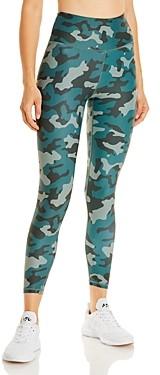 Aqua Athletic Camo Print Knit Leggings - 100% Exclusive