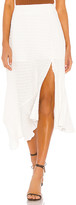 Line & Dot Fall For You Asymmetrical Skirt