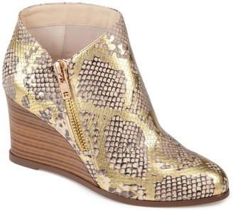 Journee Collection Glam Women's Wedge Ankle Boots