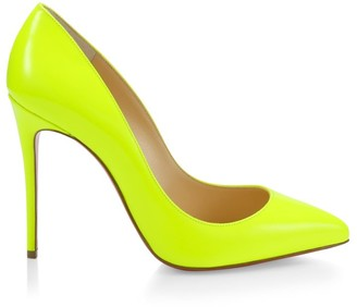 Christian Louboutin Pigalle Follies 100 Neon Leather Pumps