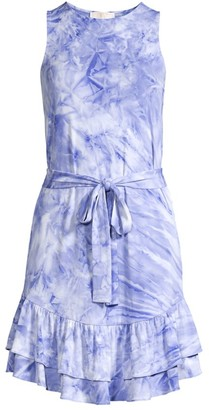 MICHAEL Michael Kors Tie-Dye Ruffle Dress