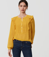 LOFT Ruffle Pintucked Blouse
