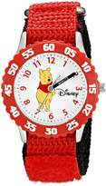 Disney Kids' W000099 Winnie the Pooh and Friends Stainless Steel Time Teacher Watch