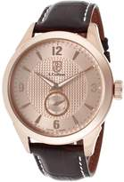 S. Coifman Men's SC0116 Rose Textured Dial Black Leather Watch