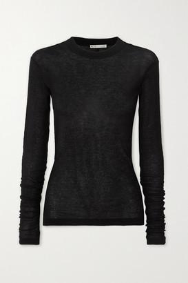 BITE Studios + Net Sustain Ribbed Organic Cotton Top - Black