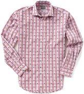 Thomas Dean Big & Tall Coupe Check Long-Sleeve Woven Shirt