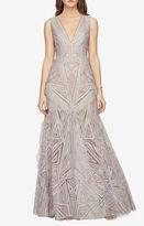 BCBGMAXAZRIA Aislinn Lace Print Gown