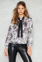 Nasty Gal Wild World Satin Shirt
