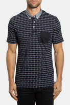 7 Diamonds Kaleidoscope Print Mercerized Polo