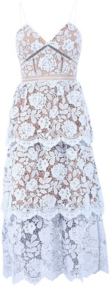 Self-Portrait Flower Lace Dress
