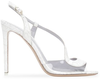 Nicholas Kirkwood S Snakeskin-Embossed Leather Slingback Sandals